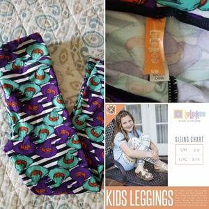 LuLaRoe Halloween Kids Leggings~size S/M